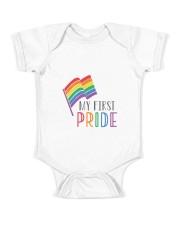 etsy rainbow flag my first pride babygrow Baby Onesie front