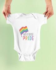 etsy rainbow flag my first pride babygrow Baby Onesie garment-baby-onesie-lifestyle-front-01
