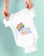 etsy rainbow flag my first pride babygrow Baby Onesie garment-baby-onesie-lifestyle-front-03