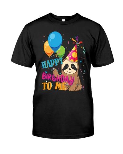 Cute Sloth Birthday Shirt