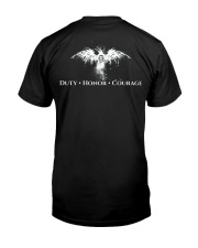 Over The Top Duty Honor Courage Premium Fit Mens Tee back