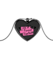 We'll be Forever Together Metallic Heart Necklace front