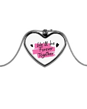 We'll be Forever Together Metallic Heart Necklace thumbnail
