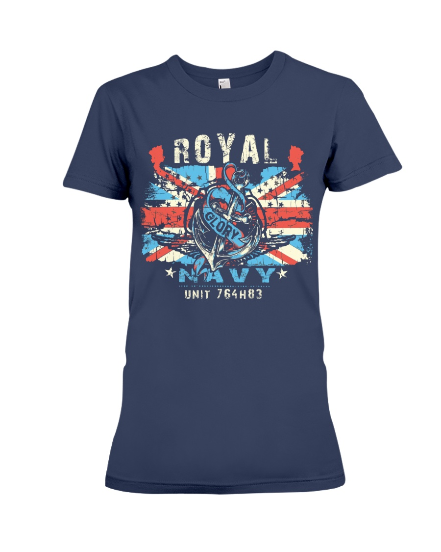 Royal Uk Navy Premium Fit Ladies Tee