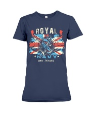Royal Uk Navy Premium Fit Ladies Tee front