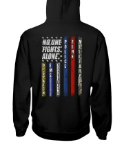 Police T-Shirt No One Fights Alone Police T-Shirt  Hooded Sweatshirt thumbnail