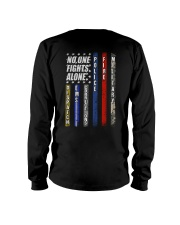 Police T-Shirt No One Fights Alone Police T-Shirt  Long Sleeve Tee thumbnail