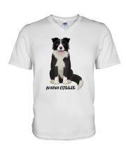 Border Collie Shirts V-Neck T-Shirt thumbnail