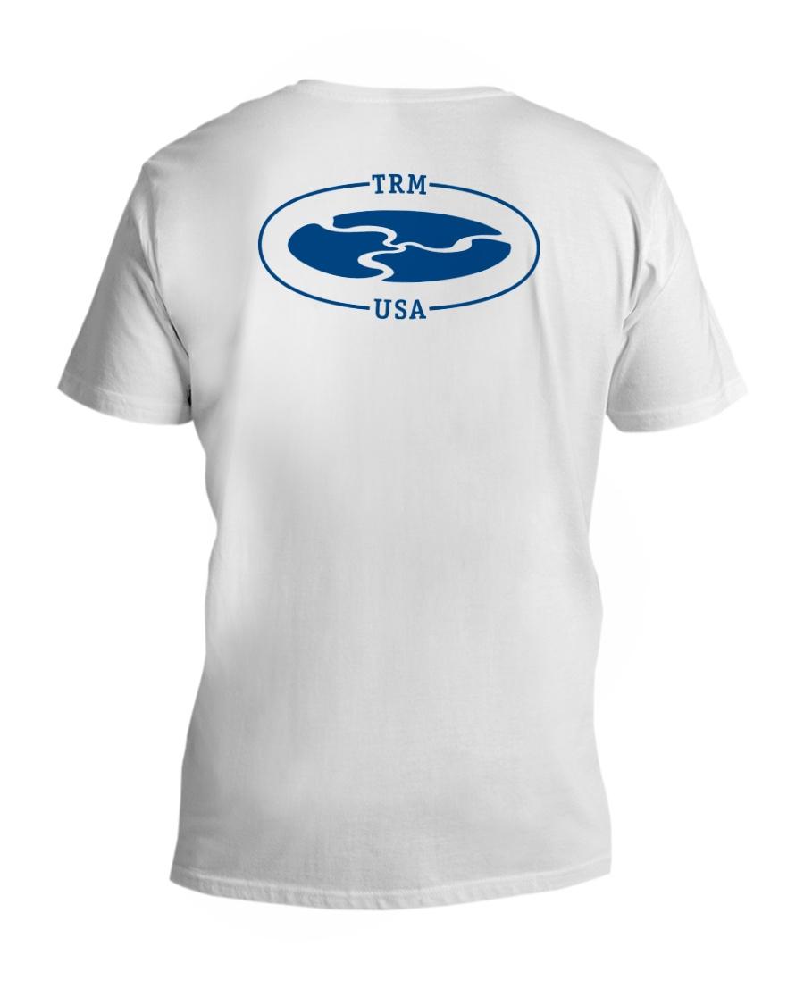 TRM Back Printed Logo Apparel V-Neck T-Shirt