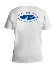 TRM Back Printed Logo Apparel V-Neck T-Shirt tile