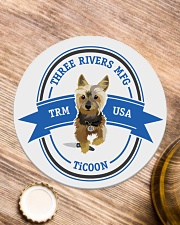 TiCOON Drinkware Circle Coaster aos-coaster-round-front-lifestyle-1