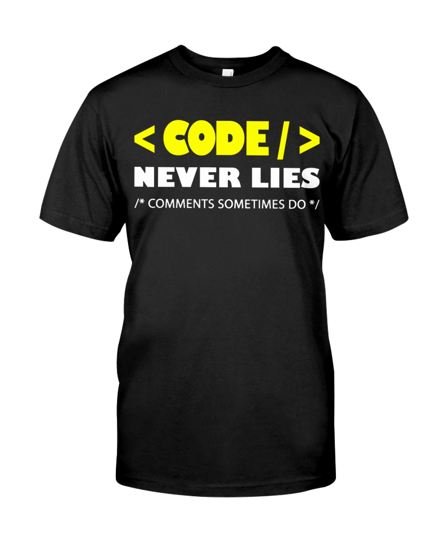 Code never lies Classic T-Shirt