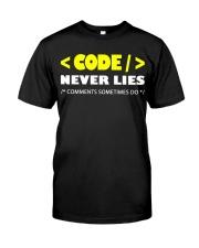 Code never lies Classic T-Shirt front