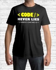 Code never lies Classic T-Shirt lifestyle-mens-crewneck-front-1