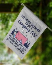 """Camping Girl Tent Flag 11.5""""x17.5"""" Garden Flag aos-garden-flag-11-5-x-17-5-lifestyle-front-15"""