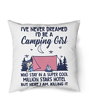 Camping Girl Tent Flag Indoor Pillow tile
