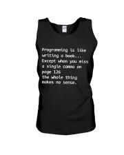 Programmer- writing Unisex Tank thumbnail