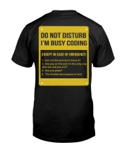Do not disturb Classic T-Shirt back