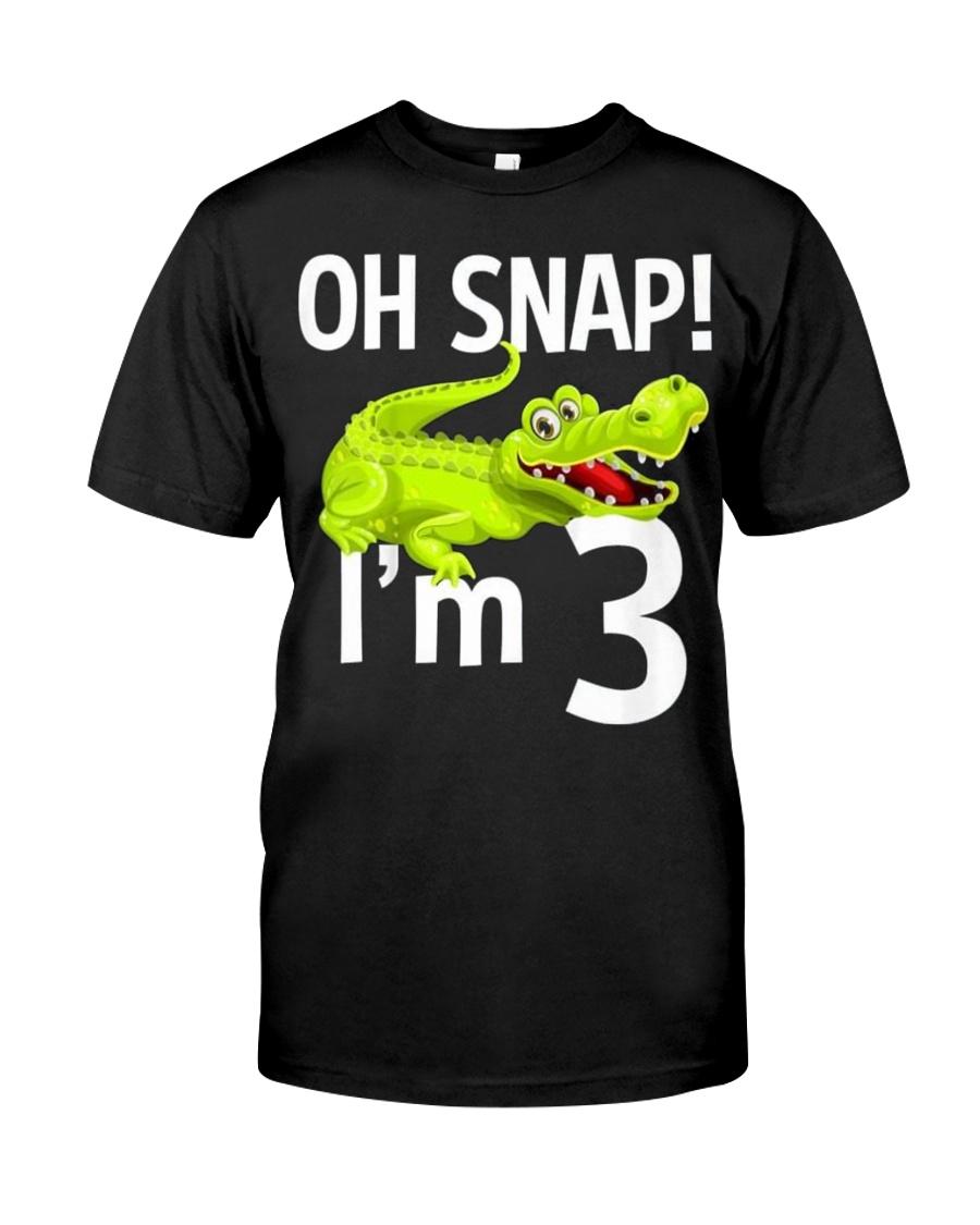 KIDS 3 YEAR OLD ALLIGATOR BIRTHDAY SHIRT CROCODILE Classic T Shirt