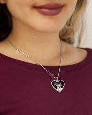 Christmas cat pendant Metallic Heart Necklace aos-necklace-heart-metallic-lifestyle-1