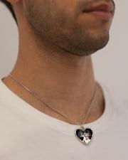 Christmas cat pendant Metallic Heart Necklace aos-necklace-heart-metallic-lifestyle-2