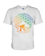 Sacred Space Animal Sanctuary Tee Shirts and Tops V-Neck T-Shirt front