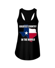 GREATEST COUNTRY IN THE WORLD Ladies Flowy Tank thumbnail