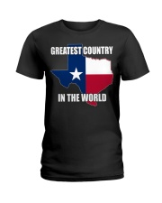 GREATEST COUNTRY IN THE WORLD Ladies T-Shirt thumbnail