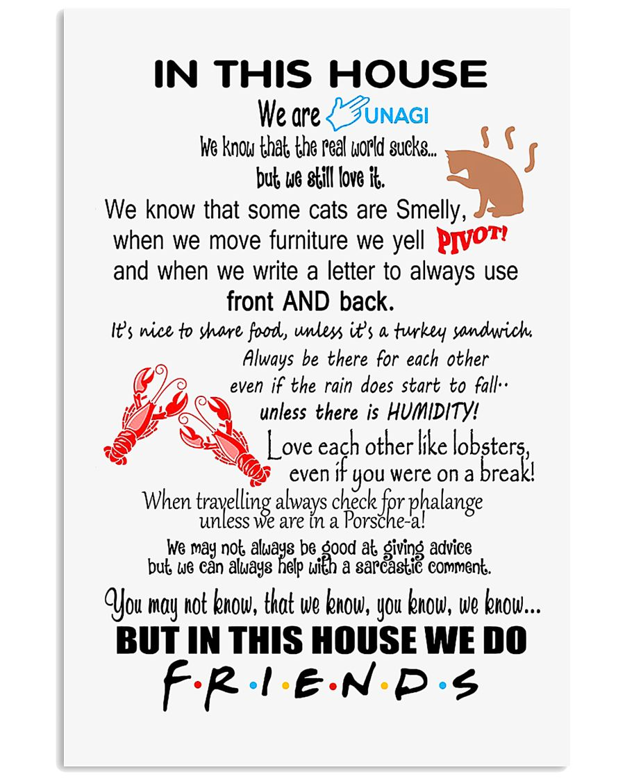 IN THIS HOUSE WE DO FRIENDS 24x36 Poster