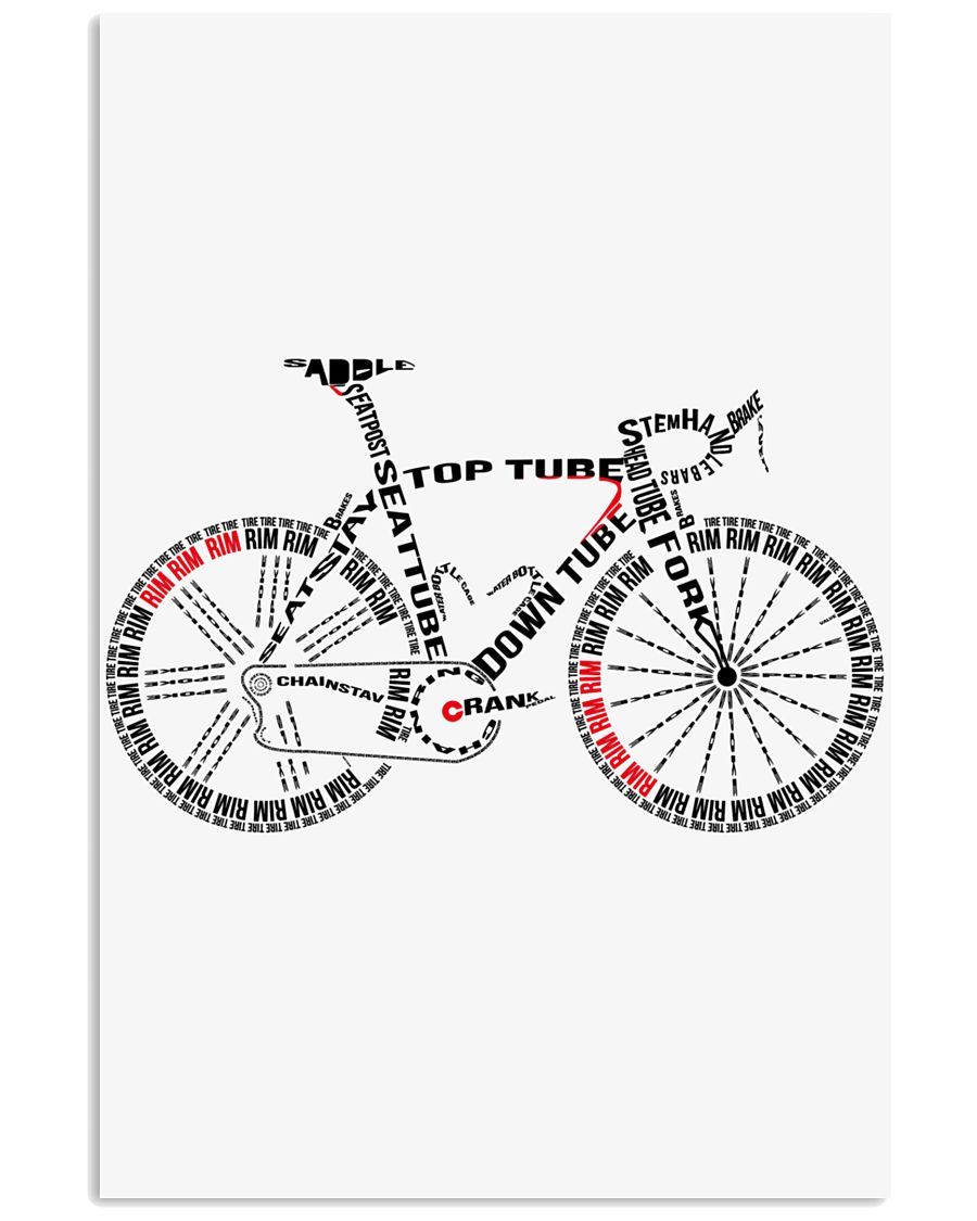 BICYCLE ANATOMY 24x36 Poster