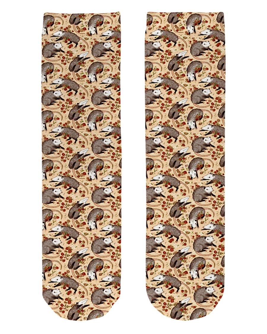 opossums Socks Crew Length Socks