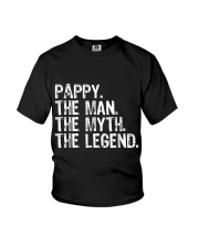 Mens Pappy The Man The Myth The Legend Daddy Grand Youth T-Shirt thumbnail