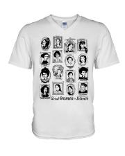 Great Women of Science V-Neck T-Shirt tile