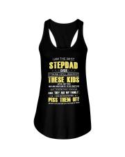 I am the best Step Dad Ladies Flowy Tank tile