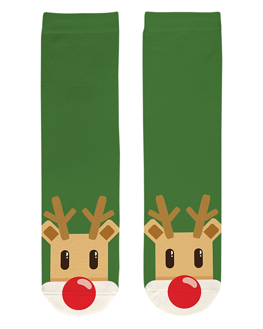 Christmas Reindeer Crew Length Socks
