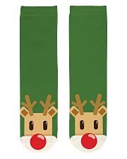 Christmas Reindeer Crew Length Socks front