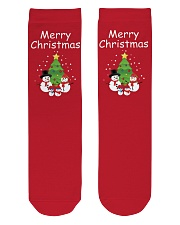 Snowman Family Crew Length Socks front