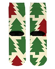 Christmas Tree Socks  Crew Length Socks back