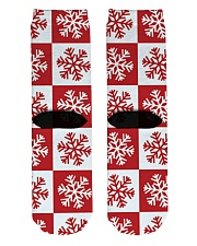Snowflakes Crew Length Socks back