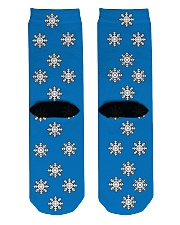 Snow flakes Socks Crew Length Socks back