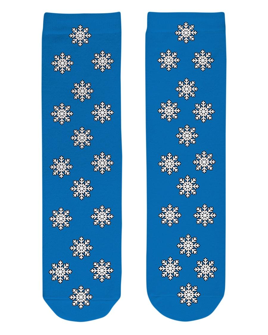 Snow flakes Socks Crew Length Socks