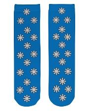 Snow flakes Socks Crew Length Socks front