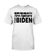 fire fighters for biden t shirt Classic T-Shirt tile