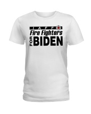 fire fighters for biden t shirt Ladies T-Shirt tile