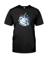 chicago unicorn skull shirt Classic T-Shirt front