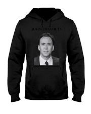 john travolta nicolas cage shirt Hooded Sweatshirt front