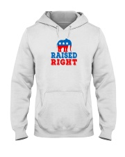 raised right shirt Hooded Sweatshirt thumbnail
