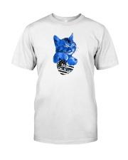 back the blue shirt Classic T-Shirt tile