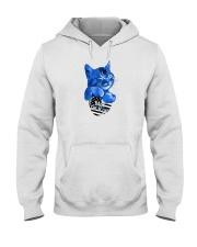 back the blue shirt Hooded Sweatshirt thumbnail
