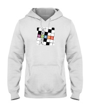 make a colorful t shirt crossword Hooded Sweatshirt thumbnail
